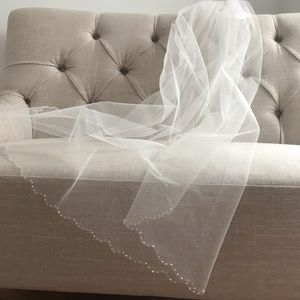 Sparkle Scalloped Bridal Veil